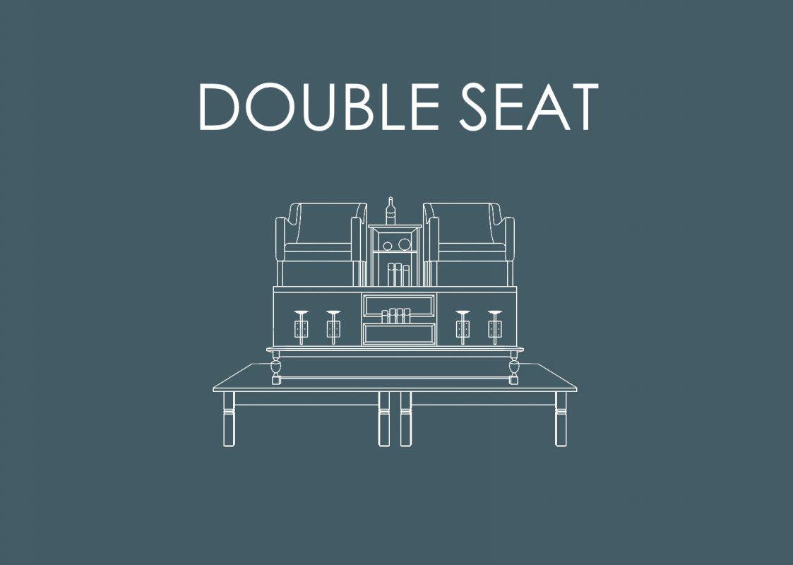 Link met getekend Double Seat Meubel