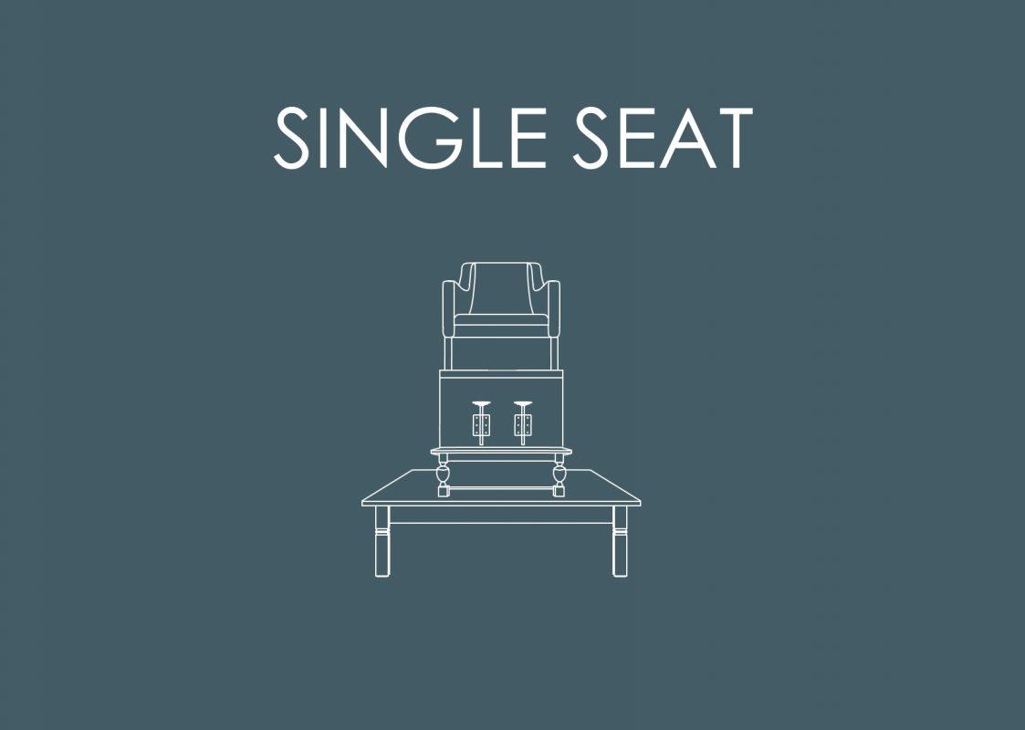 Link met getekend Single Seat Meubel